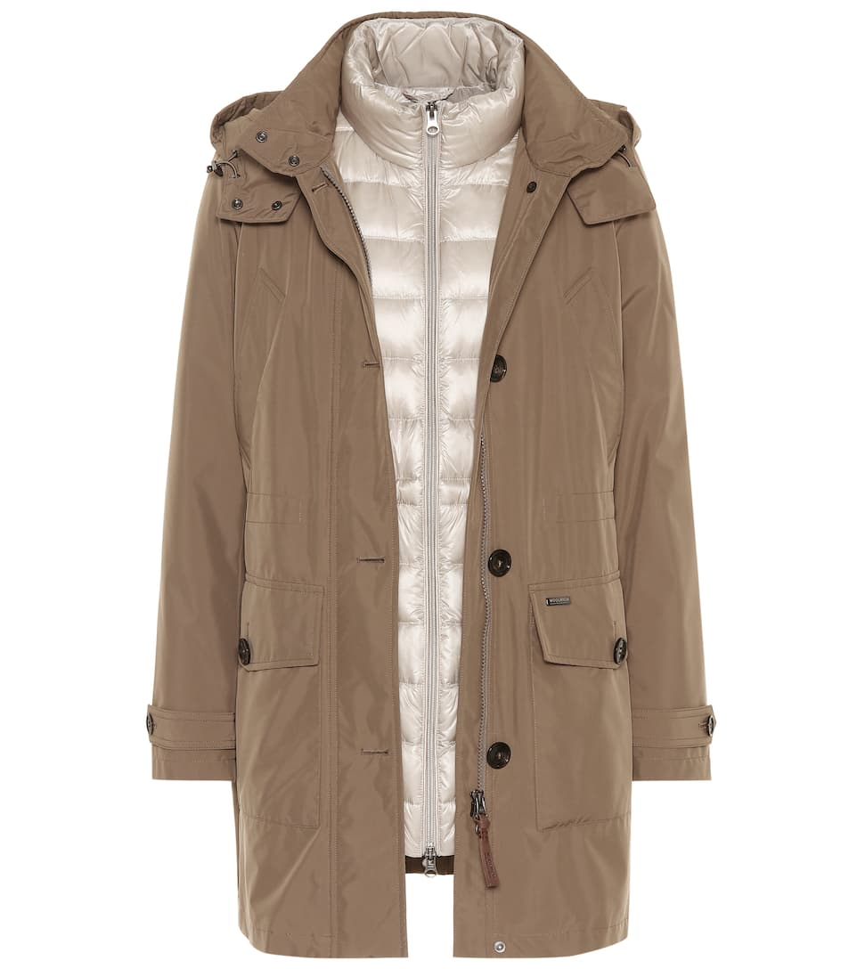 Parka Artic Donna Woolrich Layer Taupe Double Alpha UFP8wz0xqw