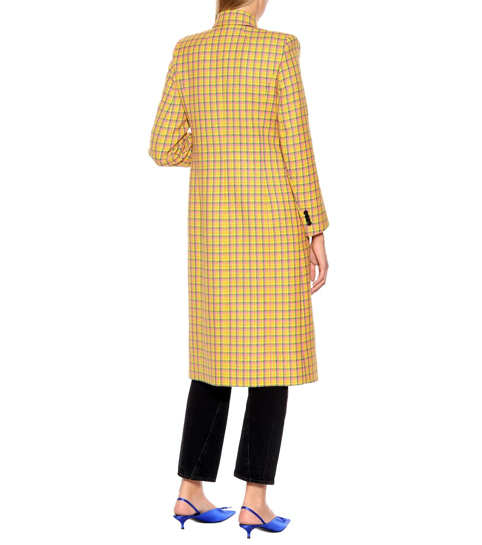Balenciaga - Checked wool coat