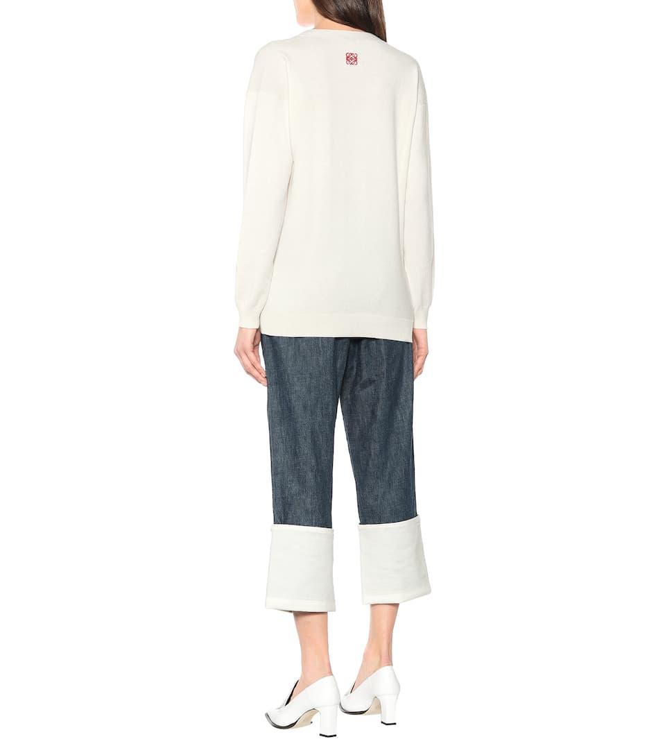 Loewe - Embroidered wool cardigan