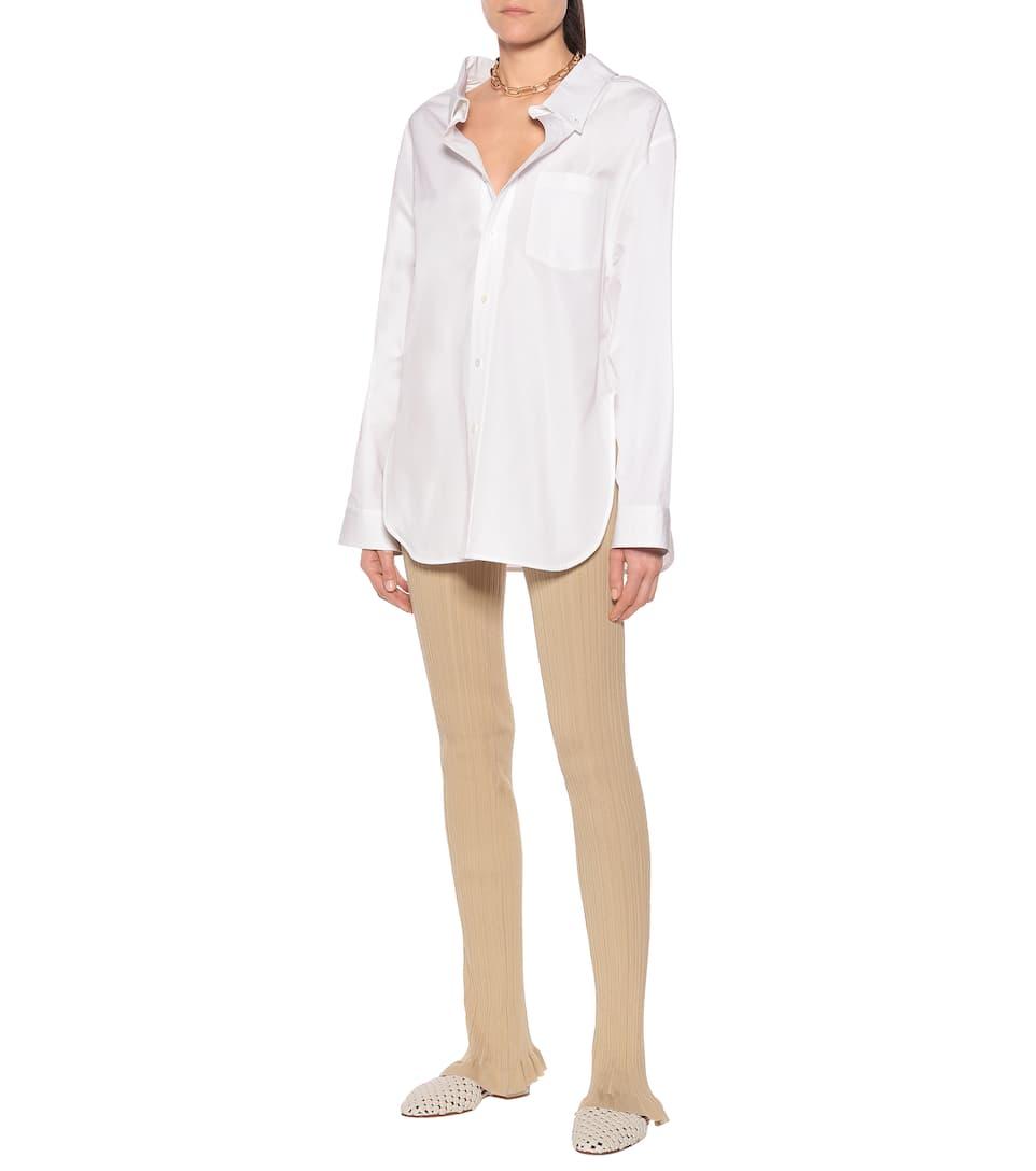 Acne Studios - Ribbed-knit cotton-blend leggings