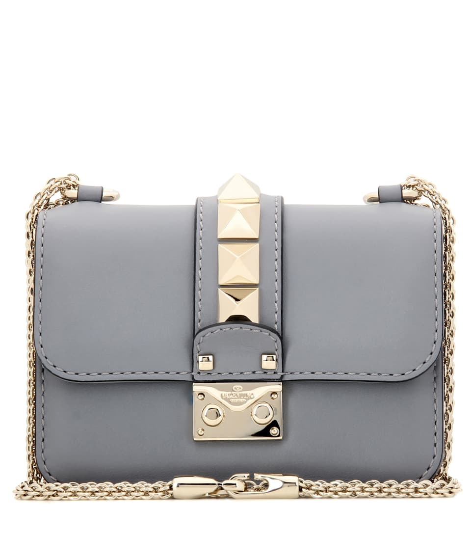 Valentino Lock Mini leather shoulder bag
