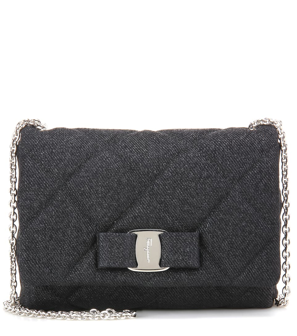 Salvatore Ferragamo Gelly quilted fabric shoulder bag