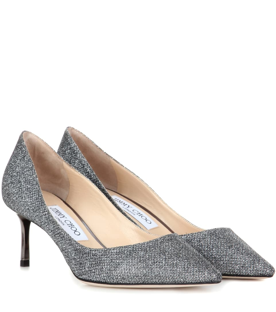 Jimmy Choo Romy 60 metallic pumps