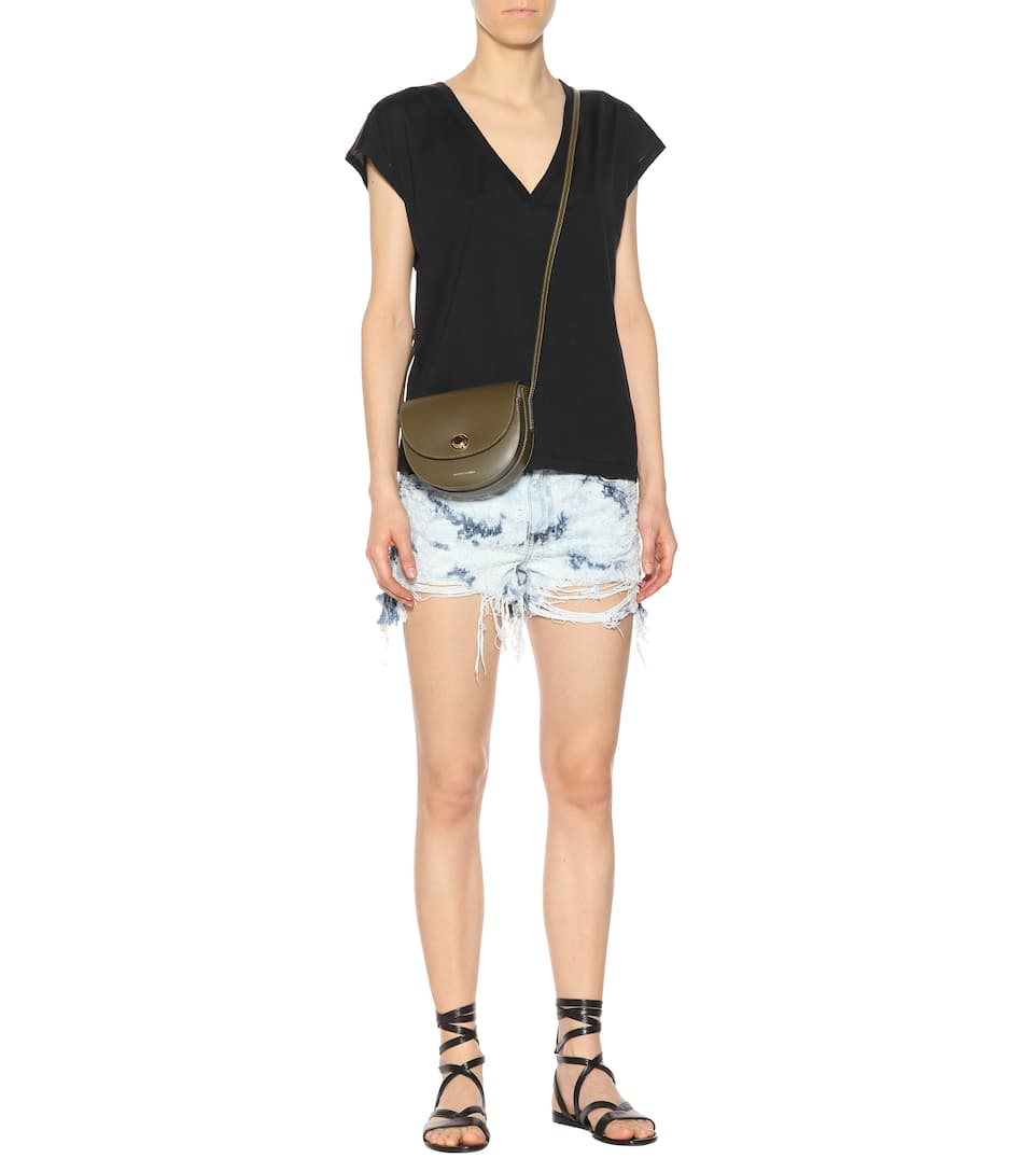T by Alexander Wang Distressed Jeansshorts aus Baumwolle