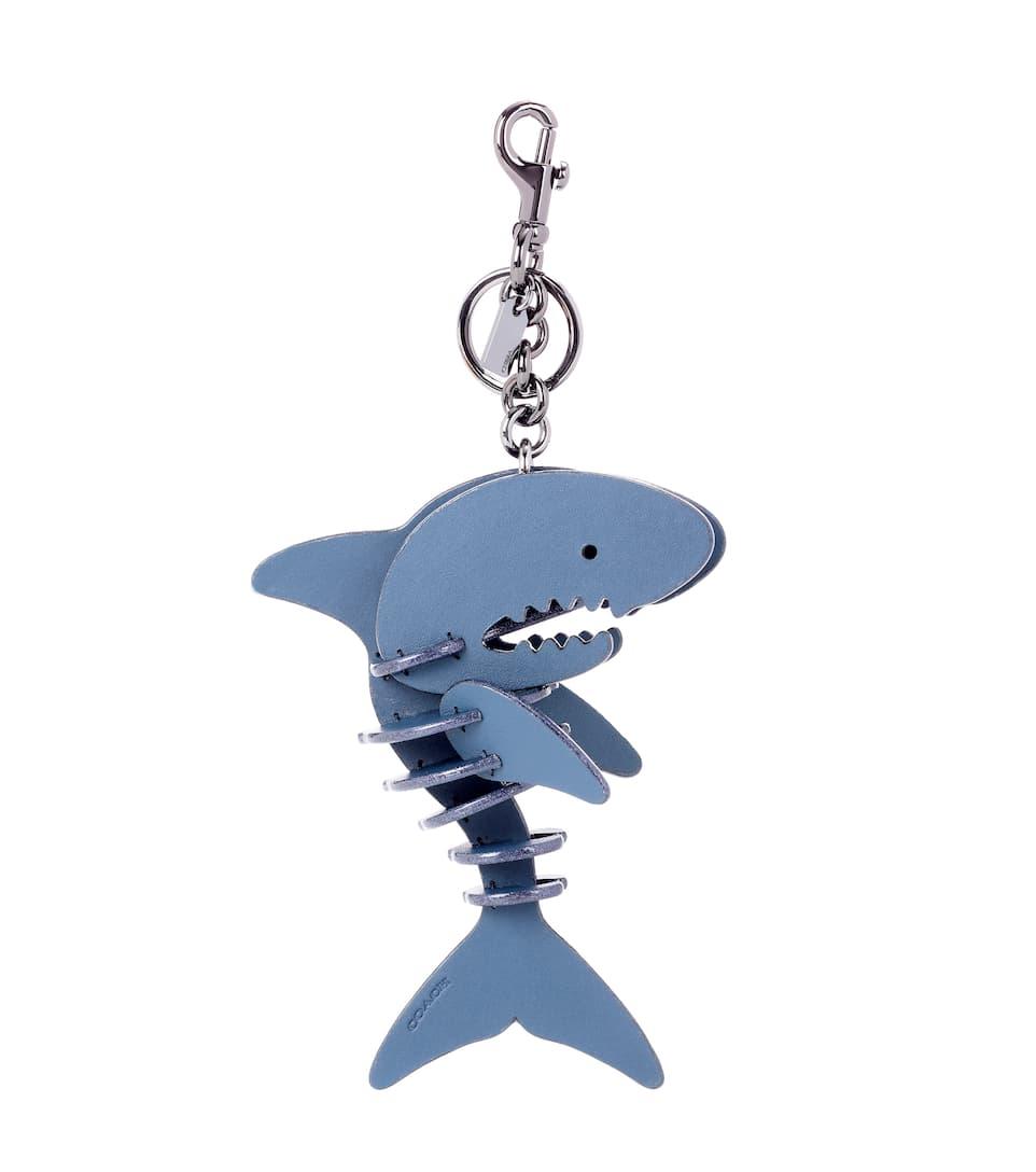 LEATHER SHARK BAG CHARM