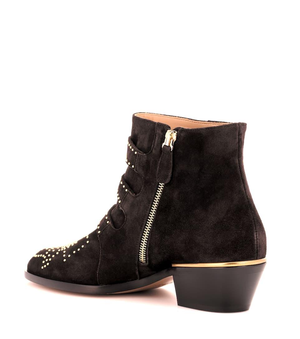 Chloé Ankle Boots Susanna aus Veloursleder