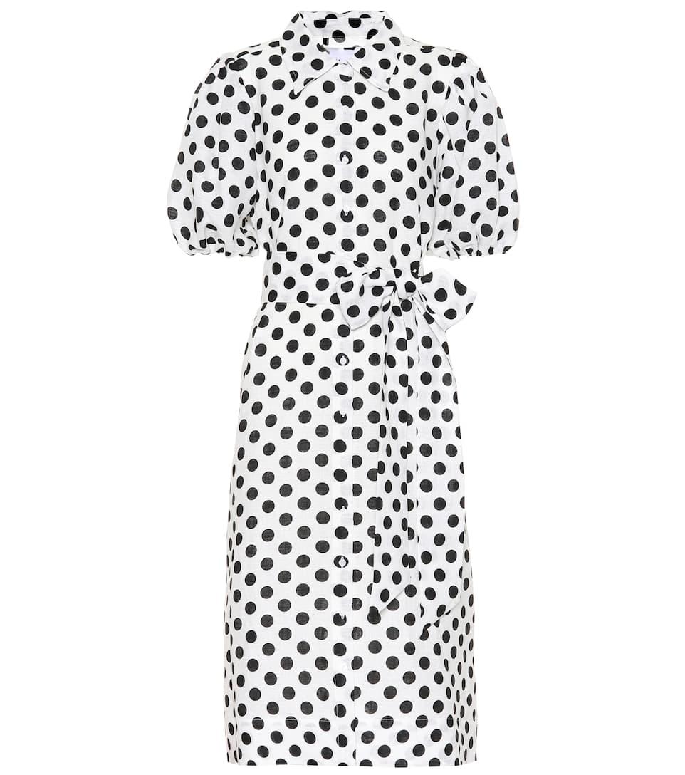 Polka-dot linen shirt dress Lisa Marie Fernandez eLon6UNg2X
