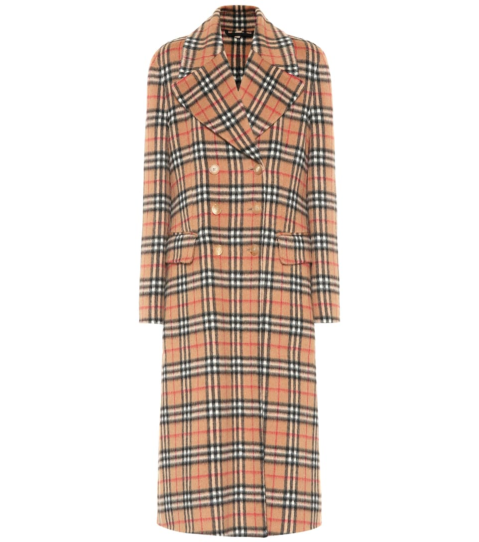 f469bc0859e Vintage Check Wool Trench Coat - Burberry
