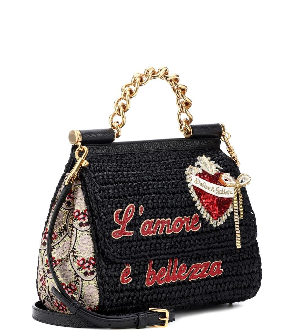 negro Sicily Multicolor amp; Dolce amp; bandolera Bolso Gabbana medio tRq0qOxw