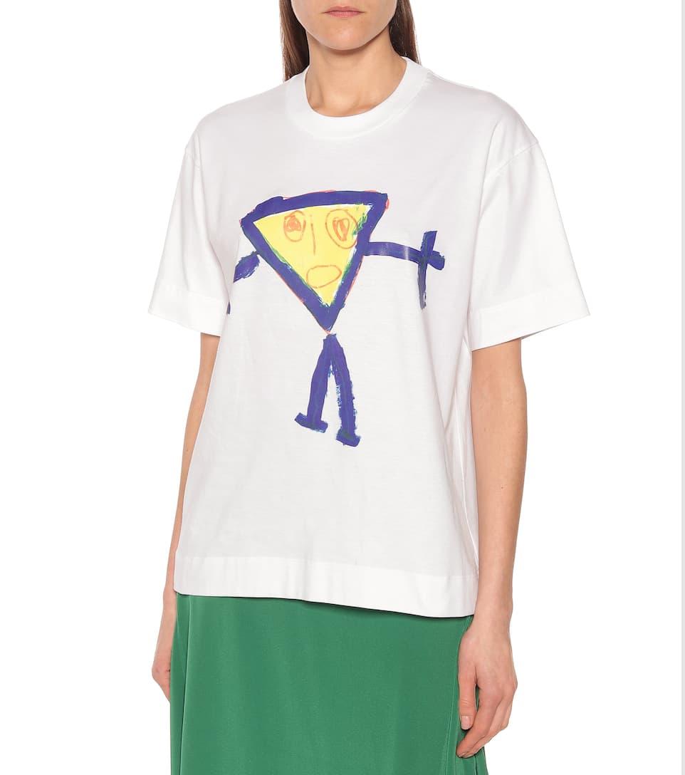Plan C - Printed cotton T-shirt