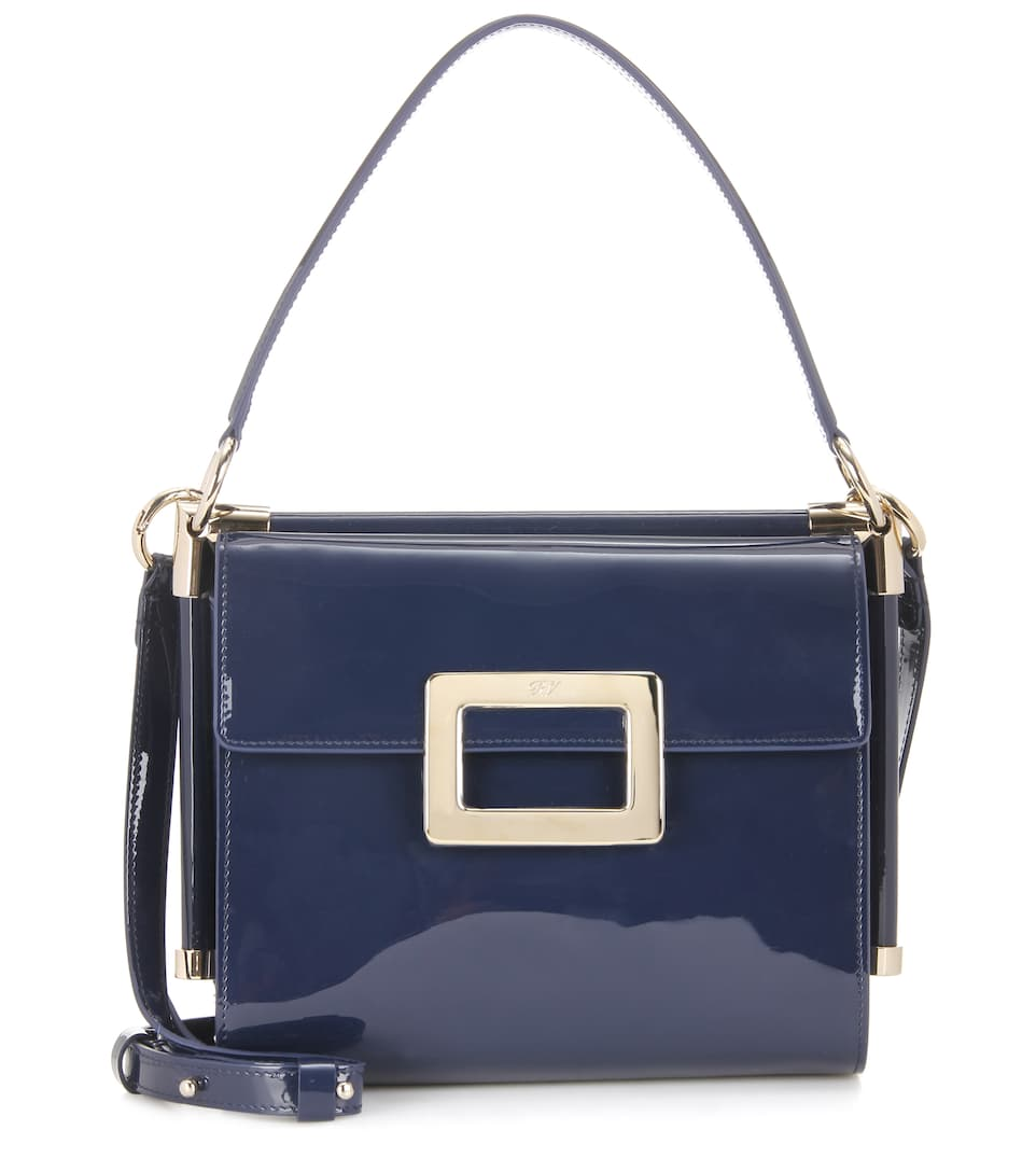 Roger Vivier Miss Viv' Carré Small patent leather shoulder bag