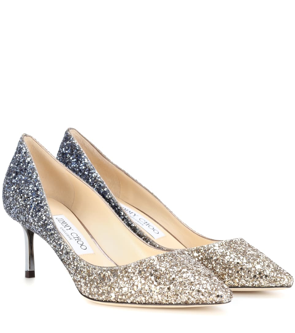 Exclusive To Mytheresa – Romy 60 Glitter Pumps by Jimmy Choo