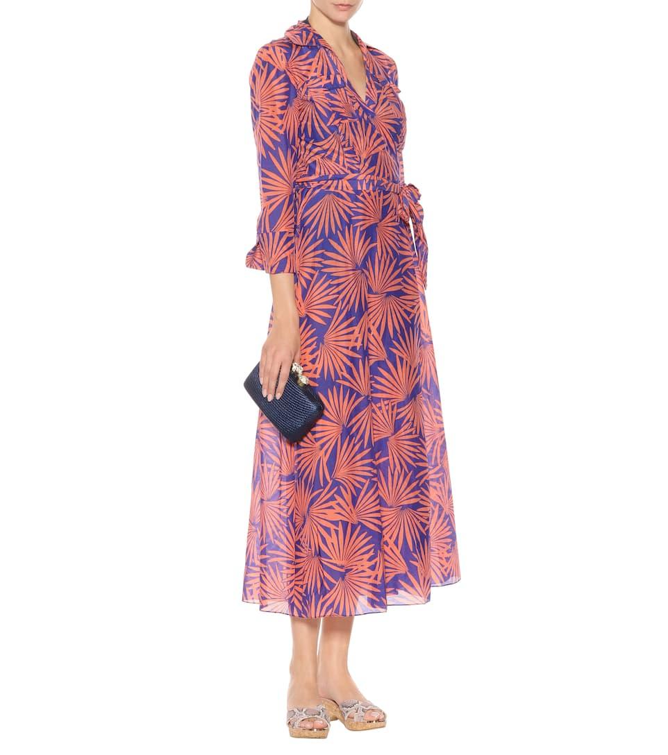 dernier Diane von Furstenberg - Robe portefeuille imprimée en coton et soie Prix Vraiment Pas Cher Visite De Sortie Footlocker À Vendre agréable X0OYje9X53