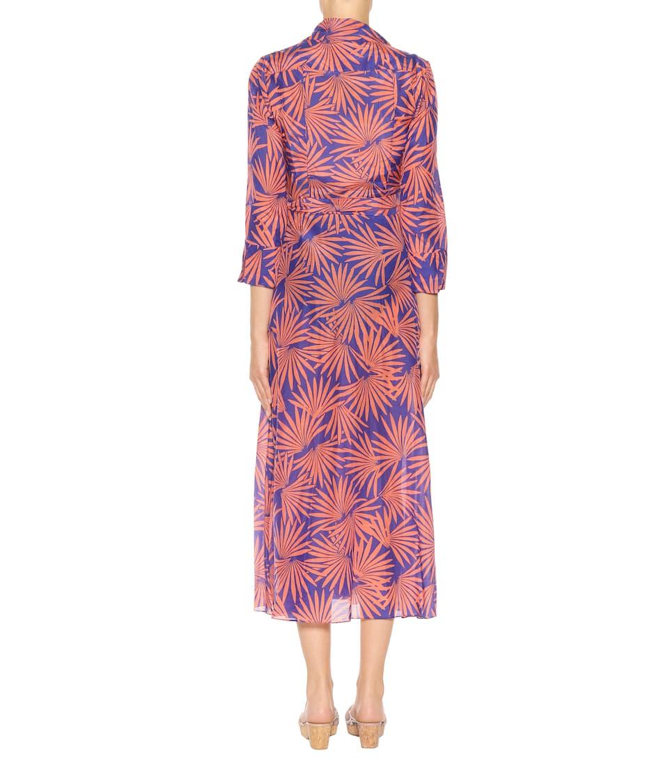 Diane von Furstenberg Bedrucktes Kleid aus Baumwolle und Seide