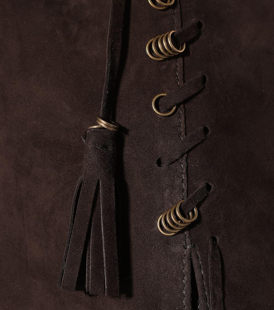 Chloé Weste aus Veloursleder mit Details