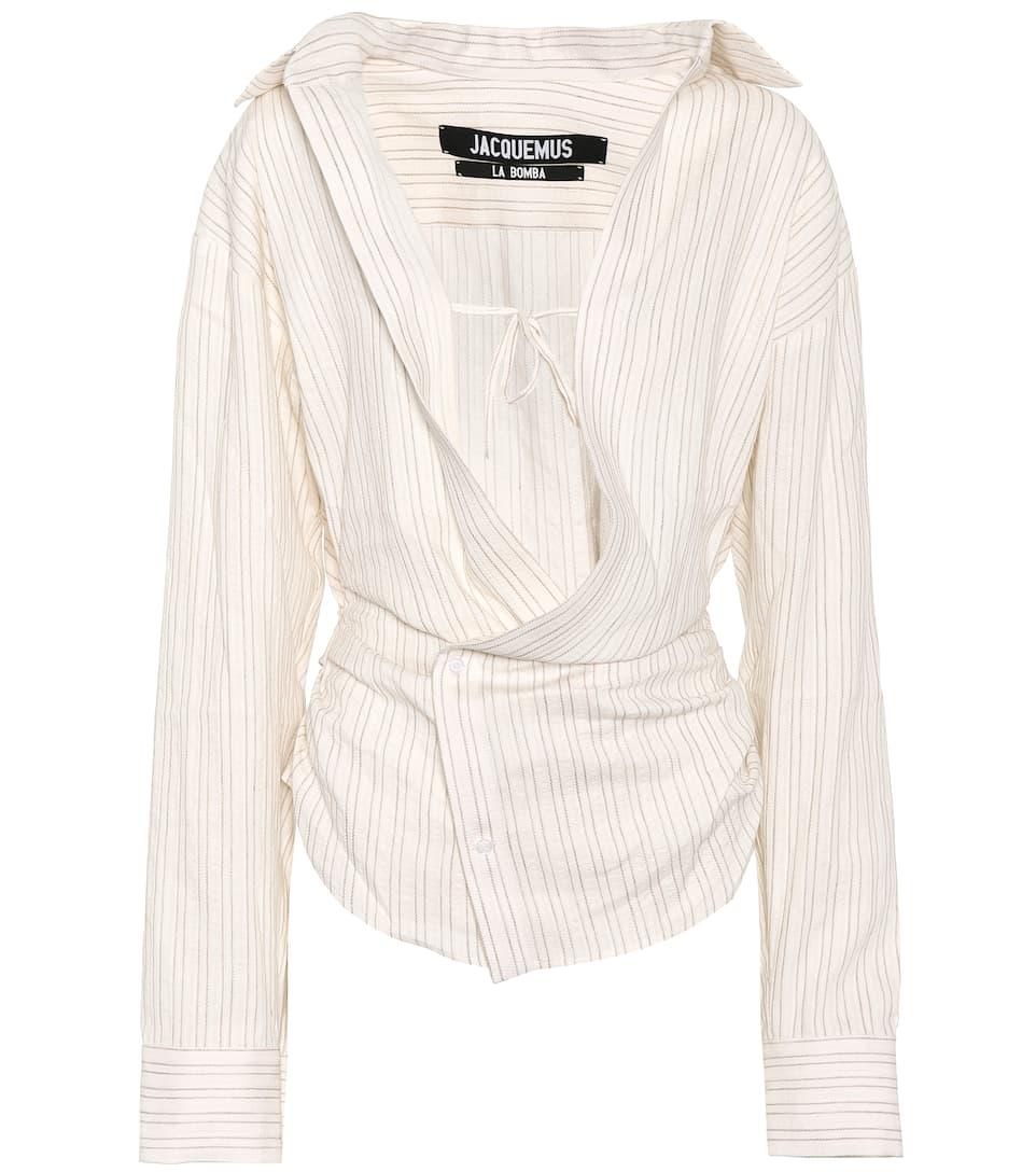 Asymmetric Linen And Cotton Blouse by Jacquemus