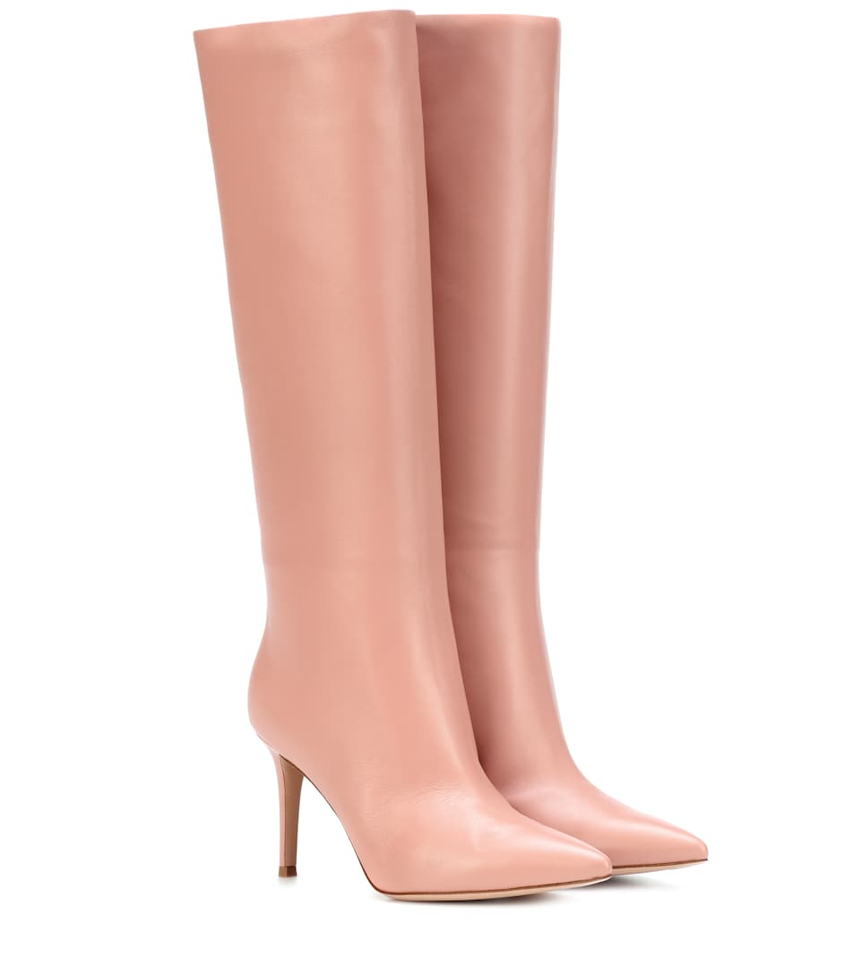 Pink Calf Length Boots (Similar)