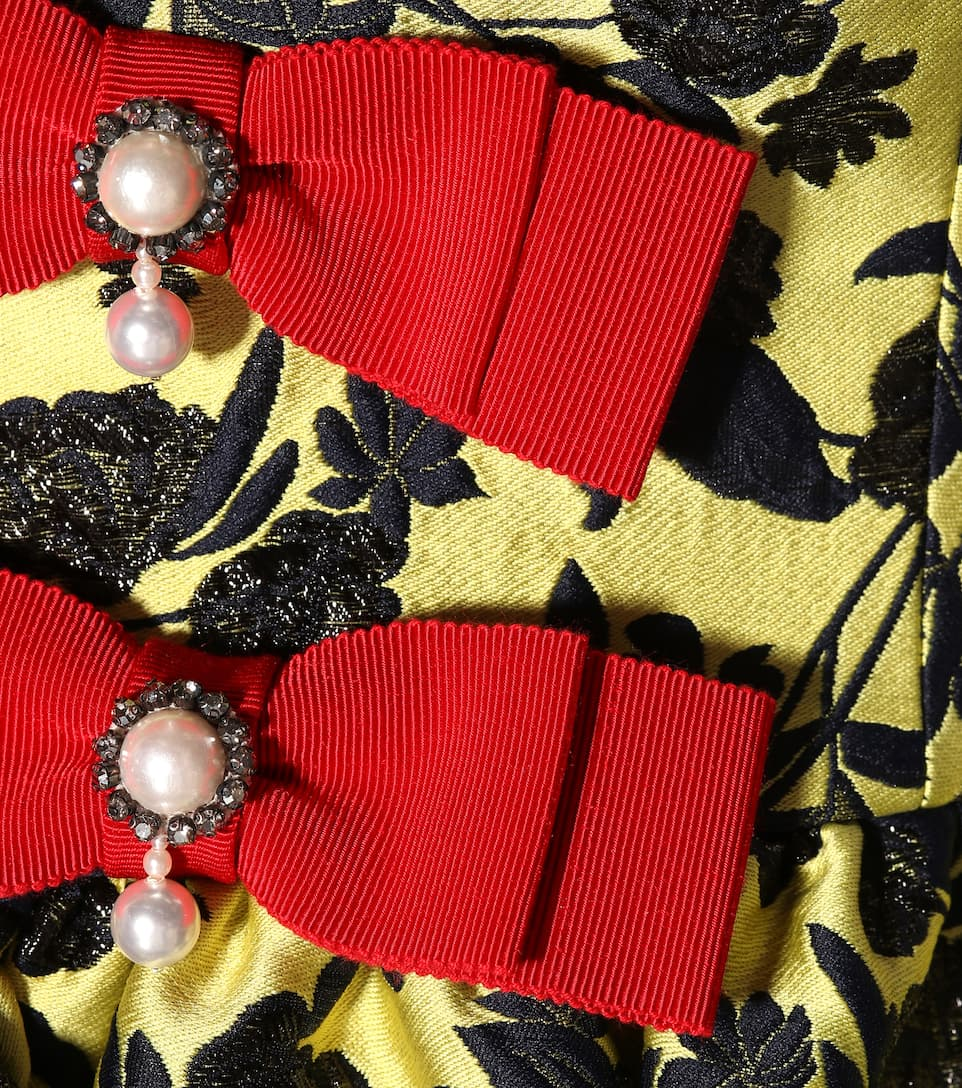 Erdem Off-Shoulder-Robe aus Brokat