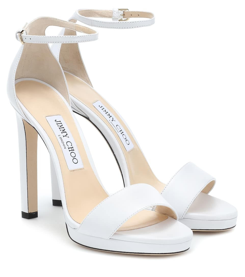 9d2047a70c46 Misty 120 Leather Sandals - Jimmy Choo