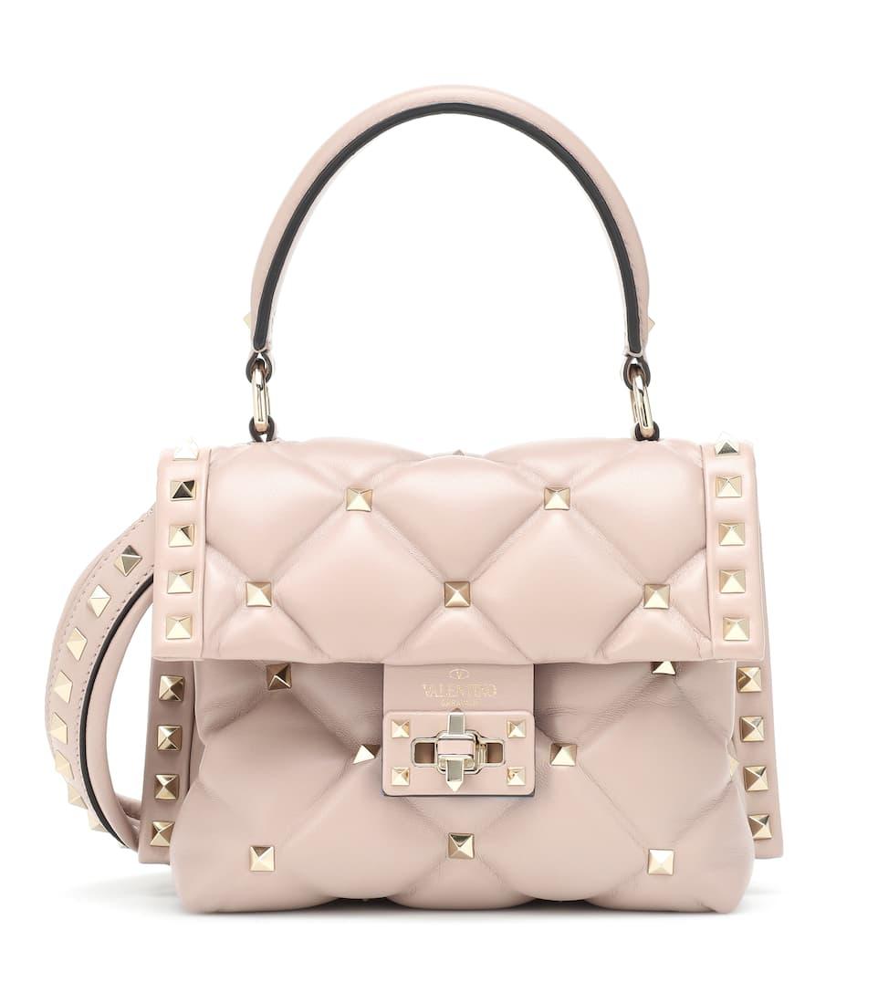 97e093a7fa6 Valentino Garavani Candystud Mini Leather Shoulder Bag | Valentino -  Mytheresa