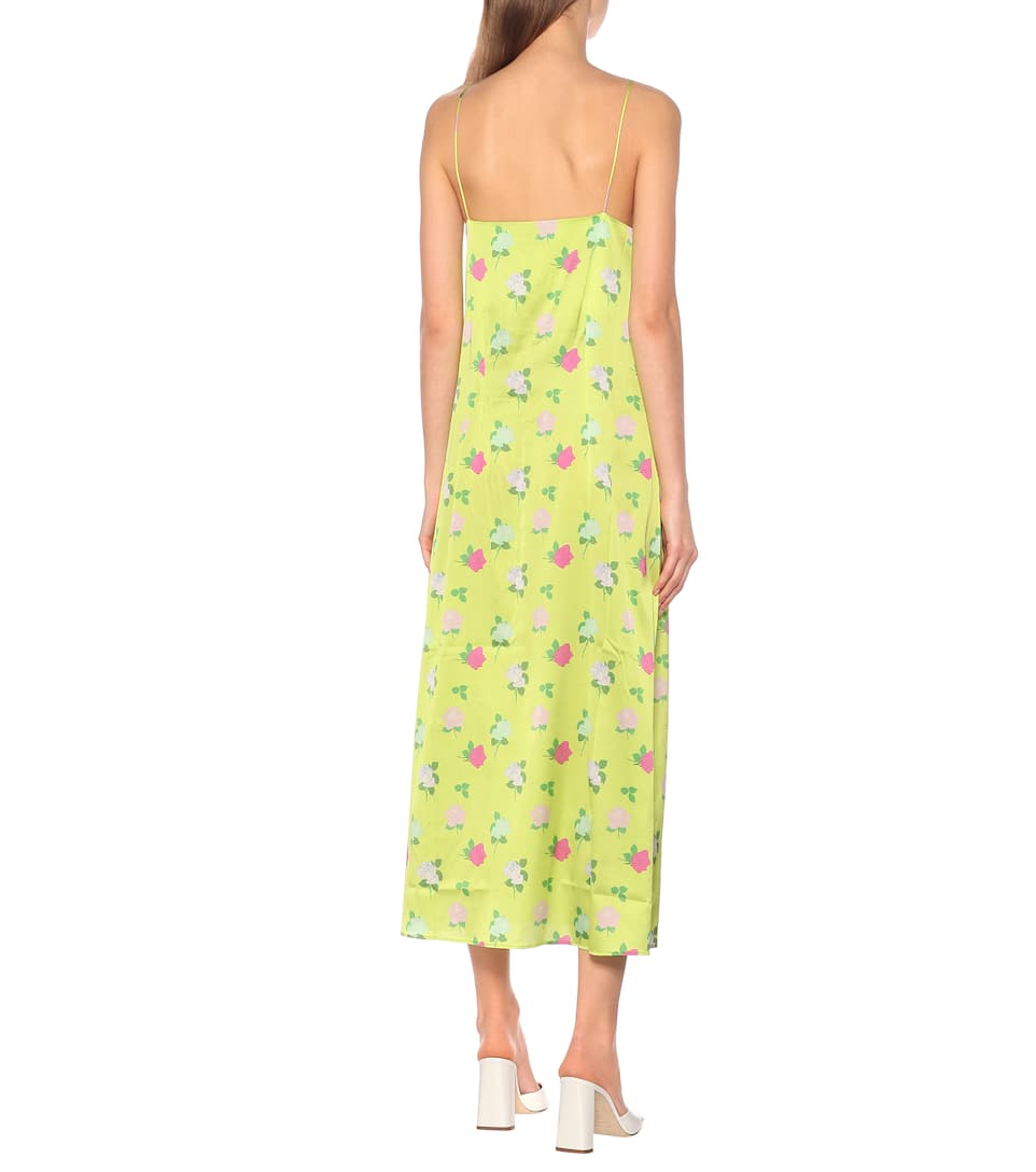 Bernadette - Hailey floral silk-satin slip dress