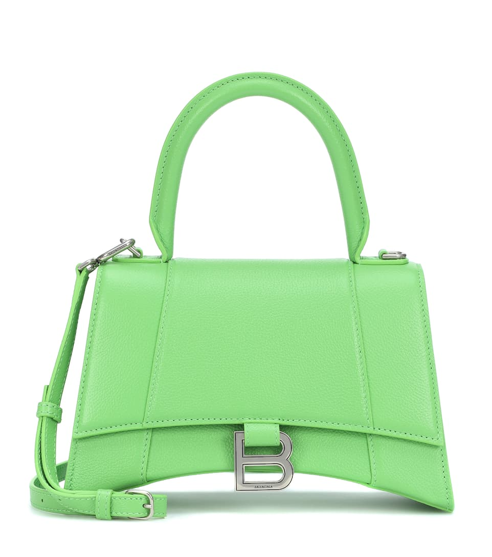 Hourglass S Leather Shoulder Bag