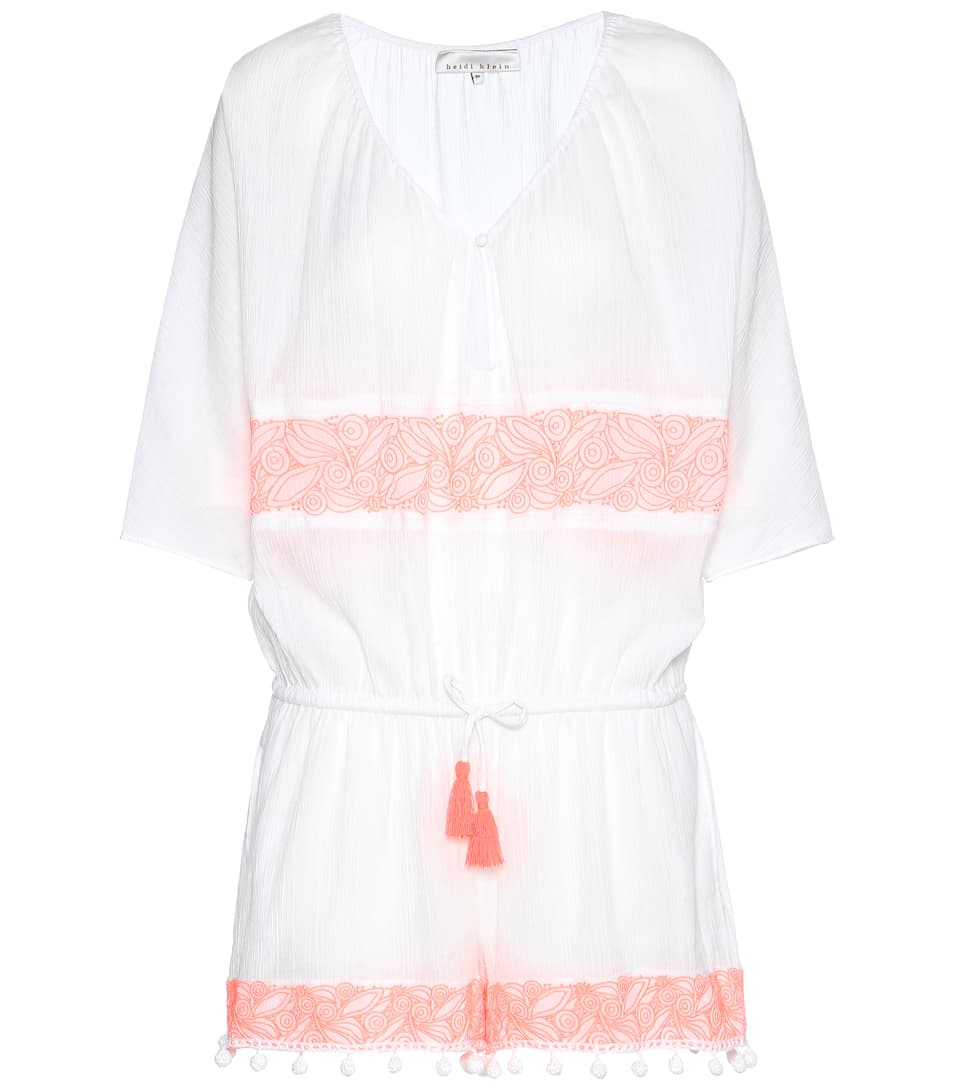 Heidi Klein embellished cotton jumpsuit