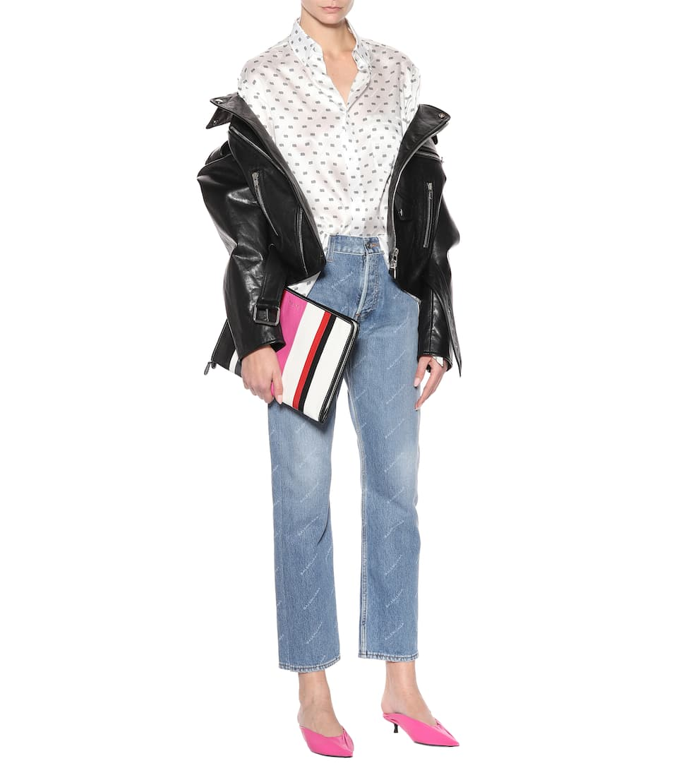 Balenciaga Cropped Jeans mit Logodetail