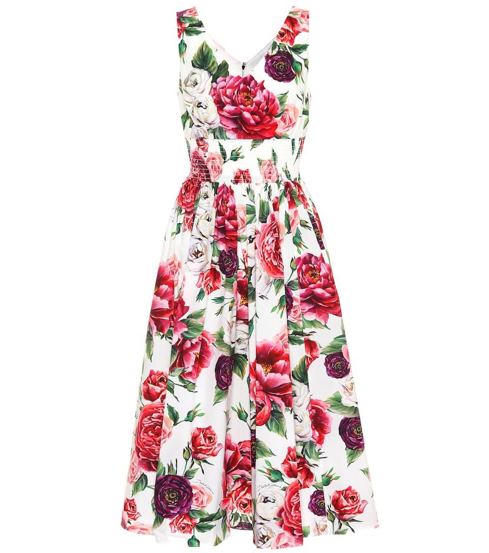 a2fc0daf Floral-Printed Cotton Dress - Dolce & Gabbana | mytheresa.com