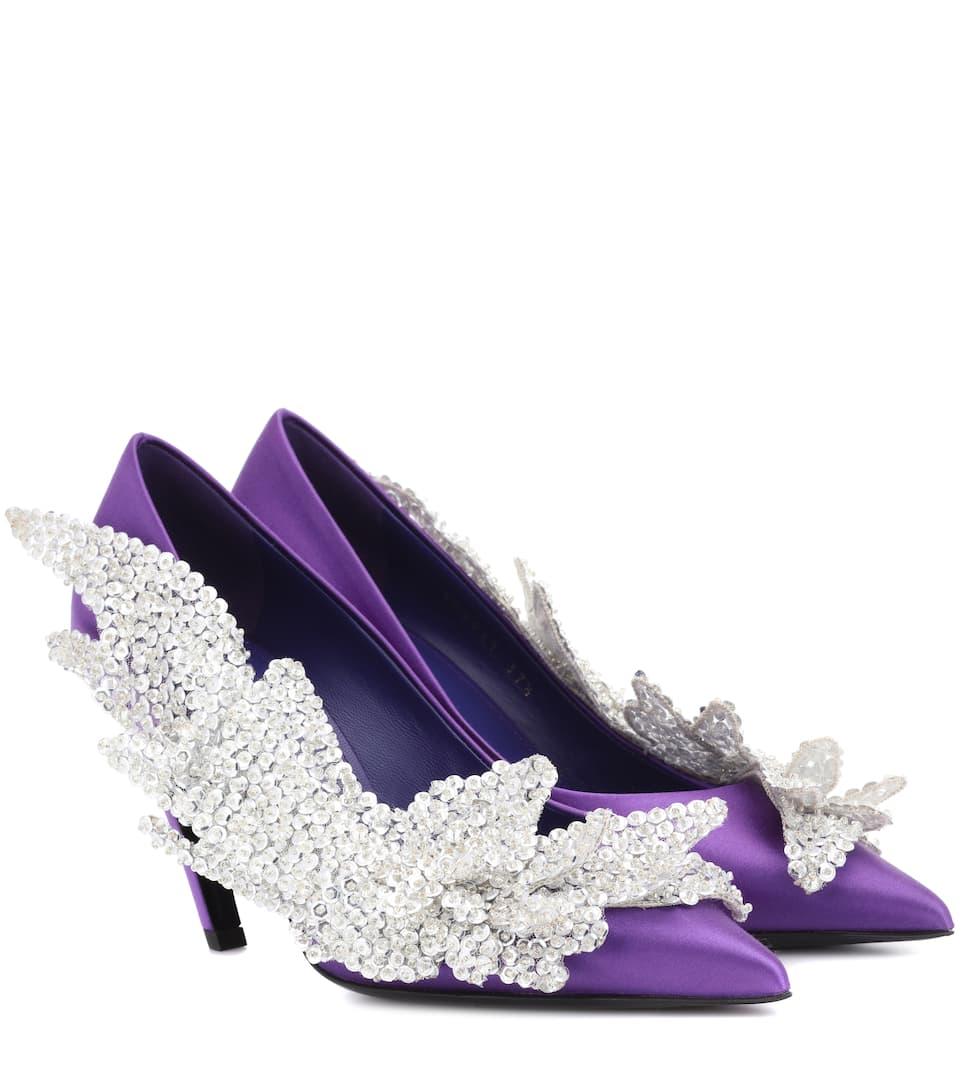 Balenciaga Slash Heel satin pumps eEaHSwd