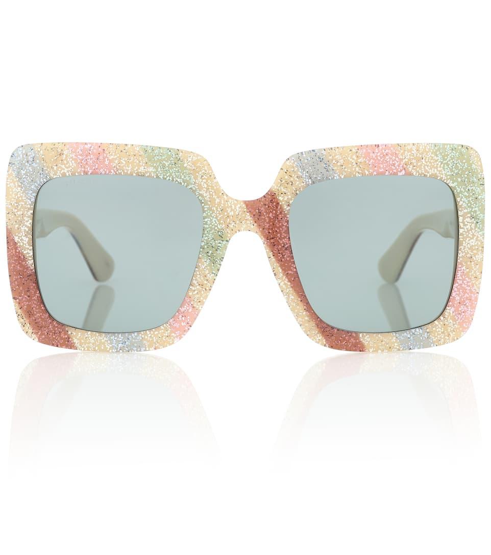74099e80032bf Square-Frame Glitter Sunglasses - Gucci