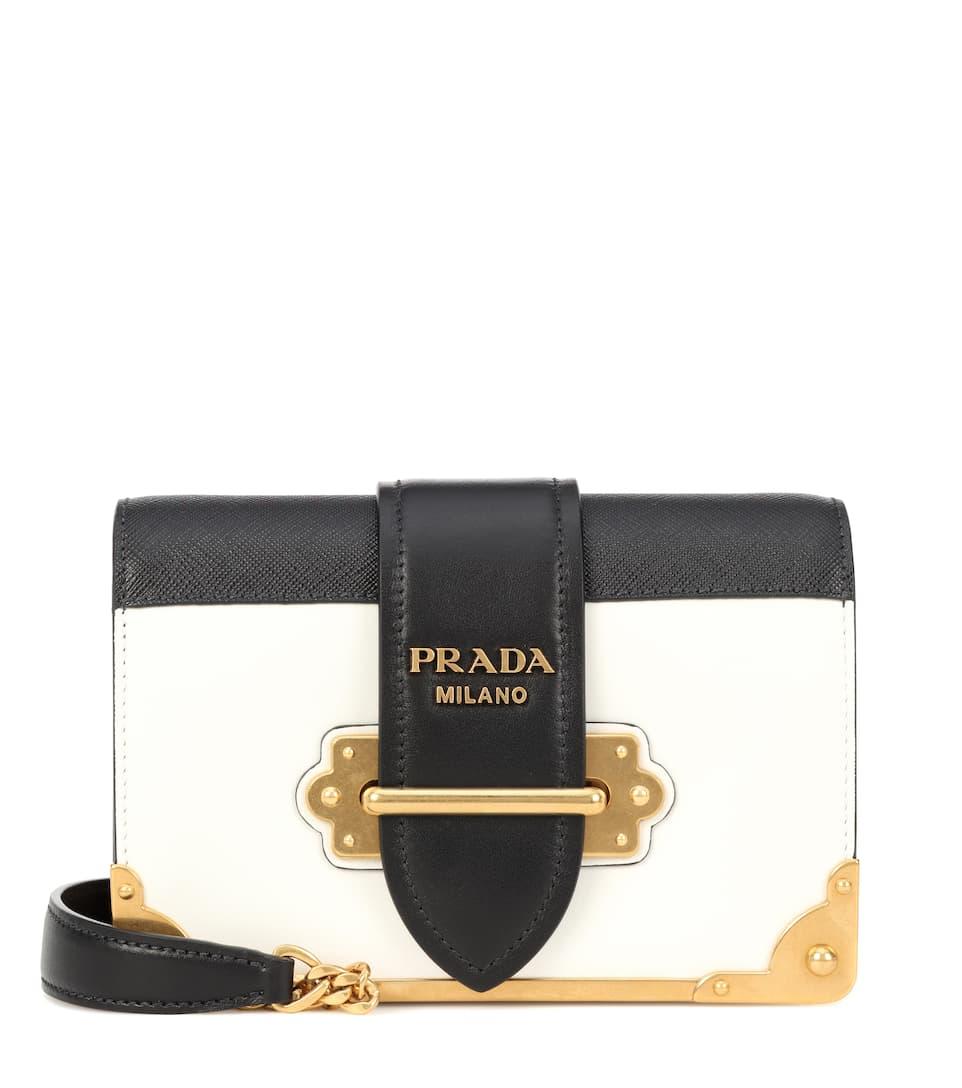 ed196552dc Cahier Leather Shoulder Bag - Prada