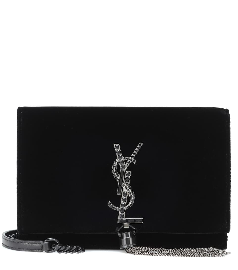 Kate Tassel Velvet Crossbody Bag by Saint Laurent