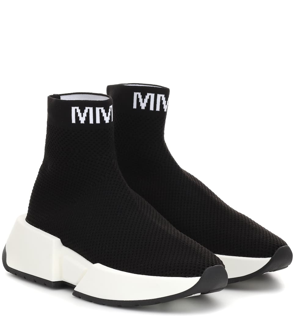 High-Top Sock Sneakers - MM6 Maison