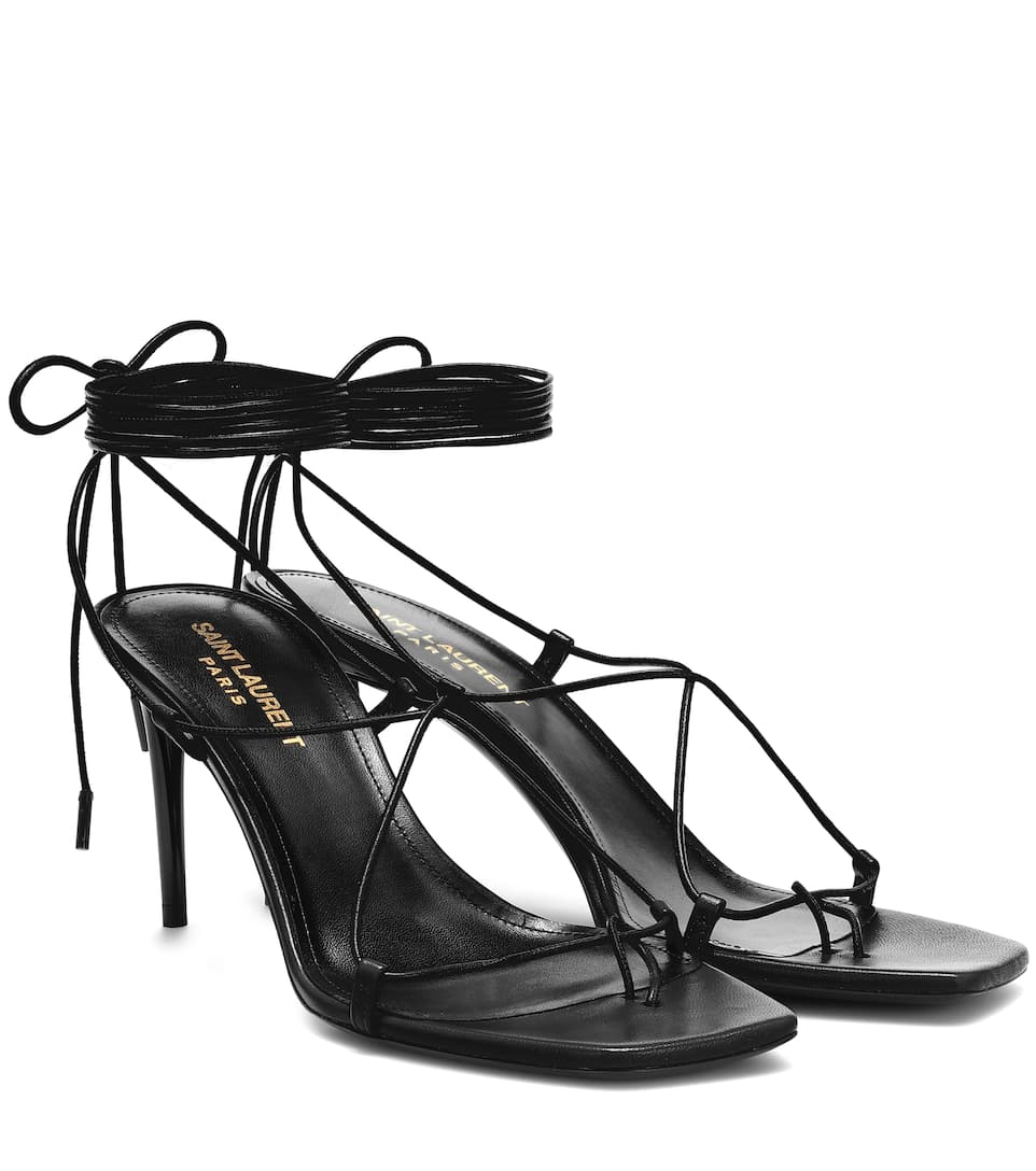 108dfecdbca Paris 75 Leather Sandals | Saint Laurent - mytheresa.com