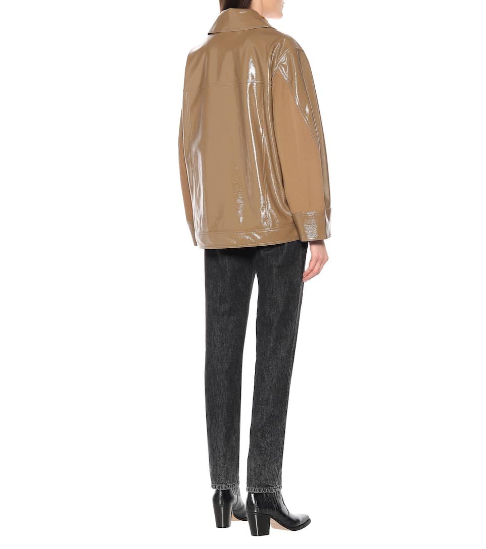 Ganni - Patent faux leather jacket