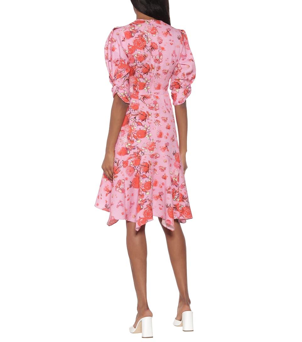 Peter Pilotto - Asymmetric floral minidress