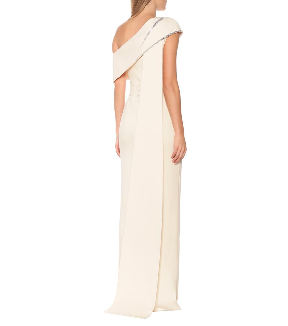Safiyaa - Verita embellished crêpe gown