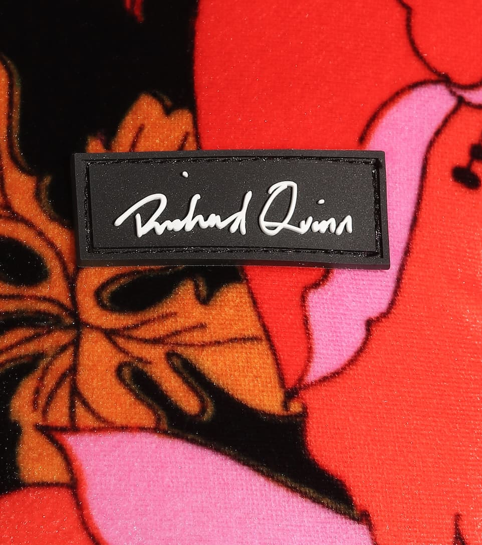 Richard Quinn - Top a stampa floreale in velluto