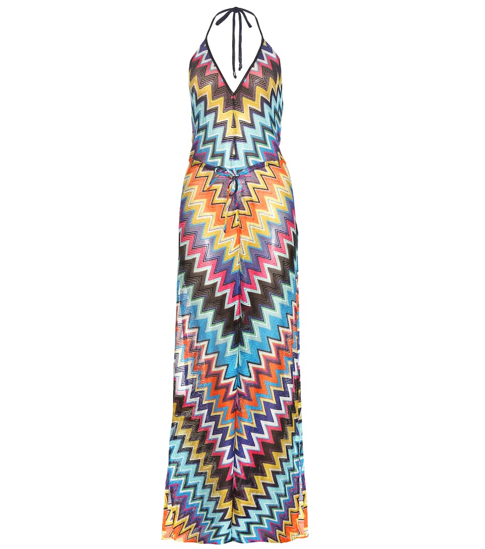 Missoni Mare Metallic crochet-knit jumpsuit