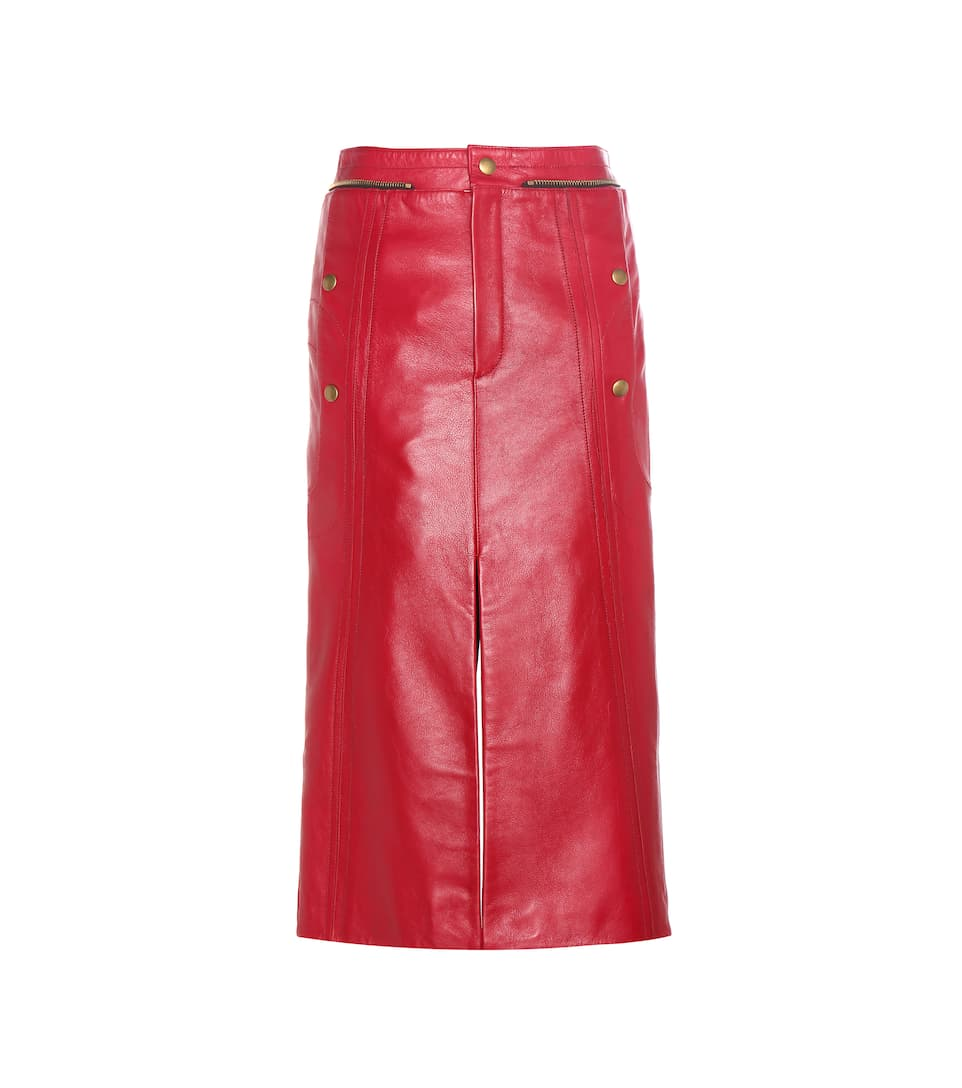 Chloé Embellished leather skirt