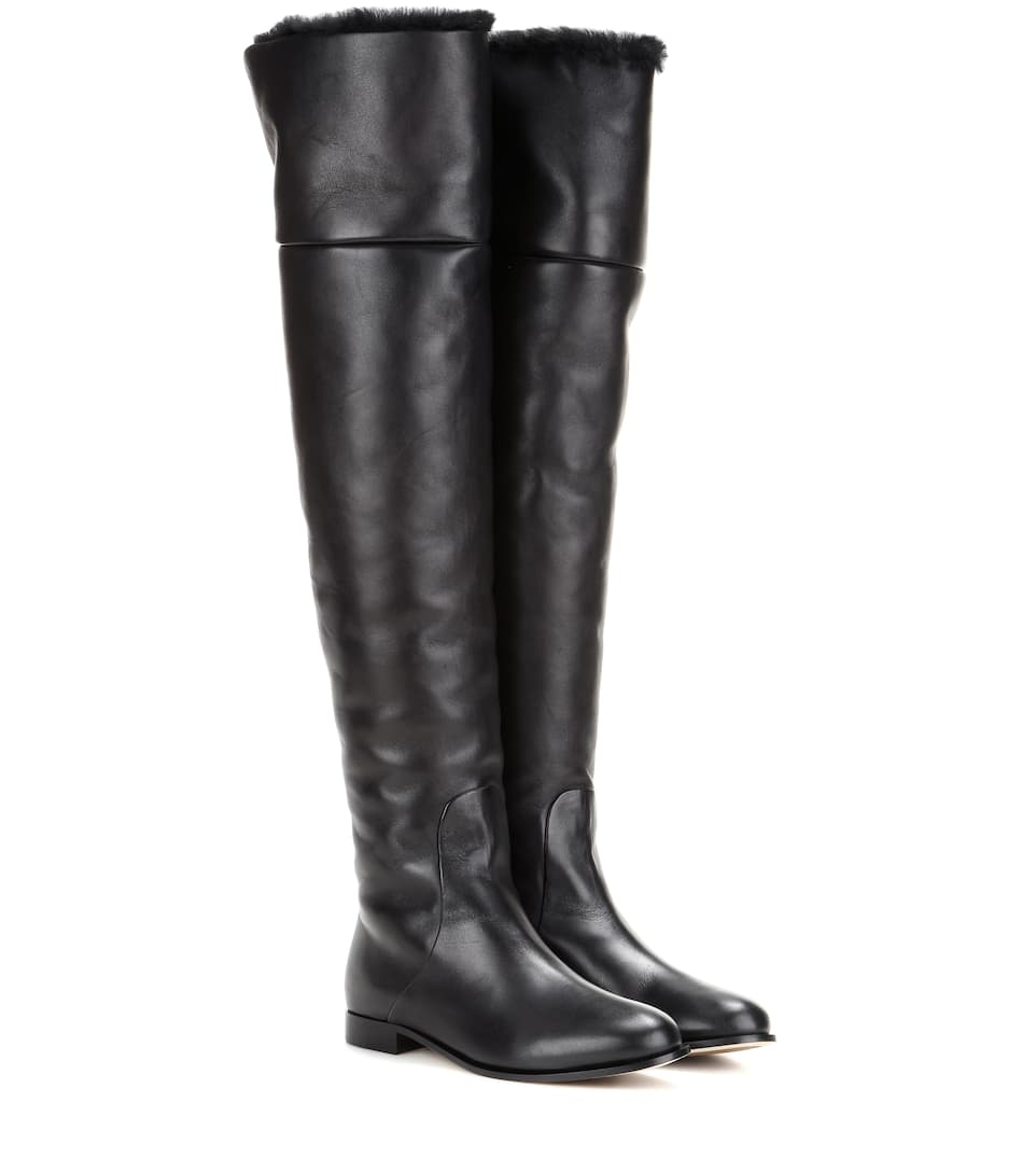 Jimmy Choo - Marshall Flat leather over-the-knee boots | mytheresa.com