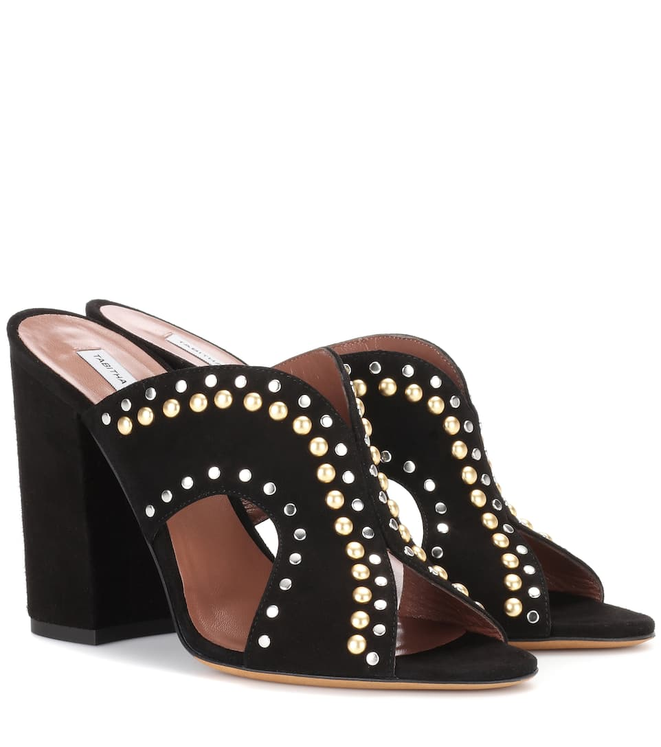 Tabitha Simmons Celia embellished suede mules LpyOT