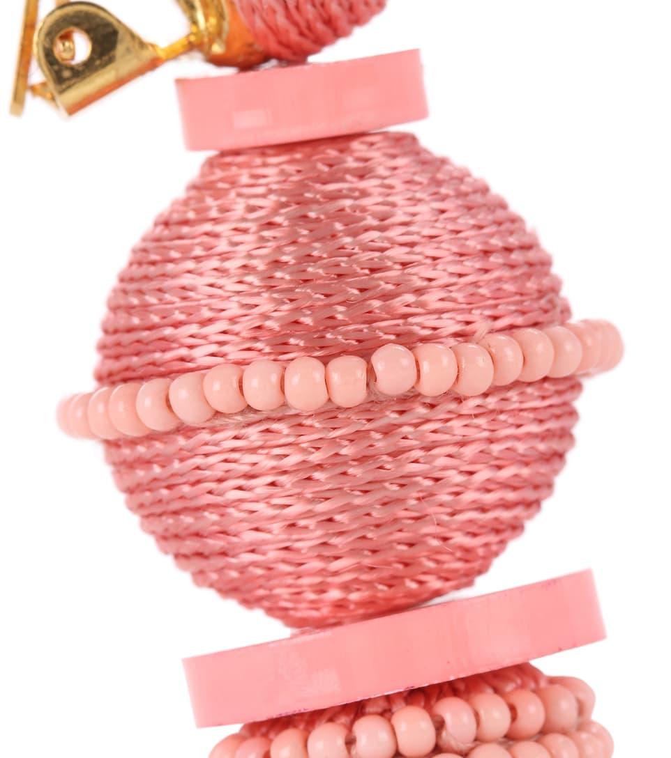 Boucles D'oreilles Clip À Houppes - Oscar de la Renta Prix Pas Cher À Vendre 6r35Q5fSd