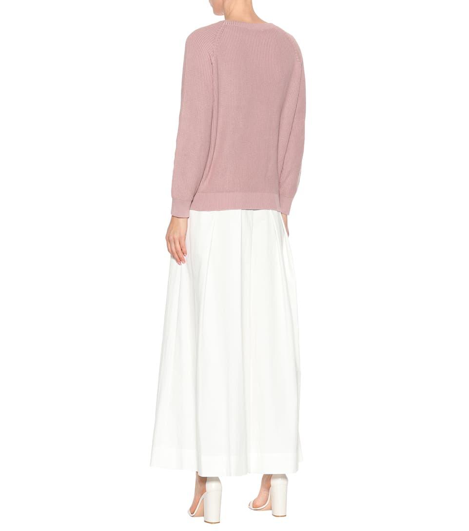 Brunello Cucinelli Verzierter Pullover aus Baumwolle