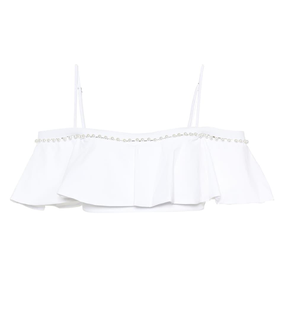 Jonathan Simkhai Bikini Top With Ruffles