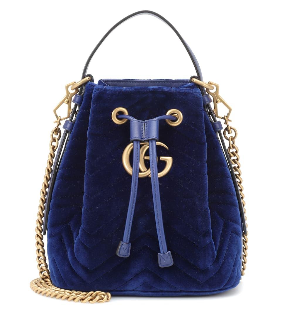 35428604b71 Gg Marmont Velvet Bucket Bag - Gucci