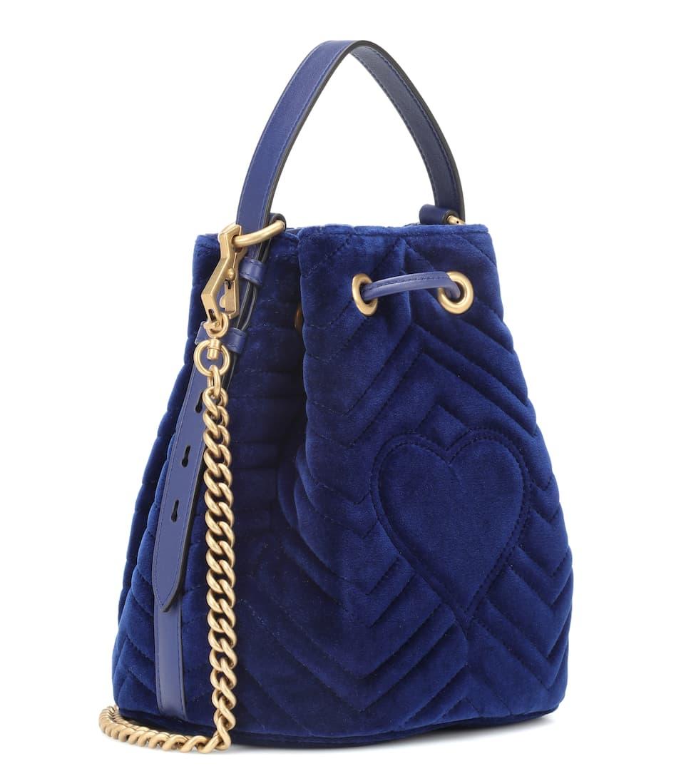 cb634fe3730 Gg Marmont Velvet Bucket Bag - Gucci
