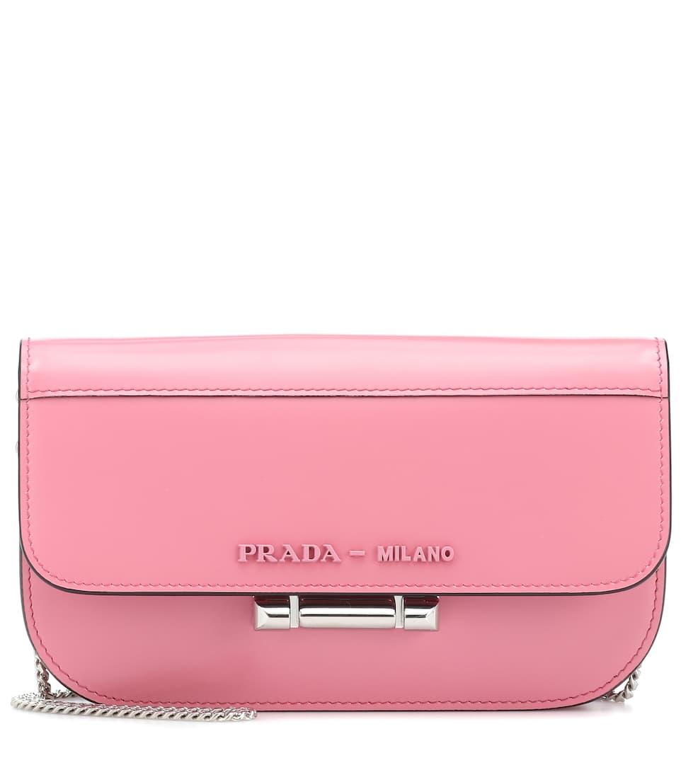 df8e1fd0e3 Shoptagr | Sybille Mini Leather Shoulder Bag by Prada