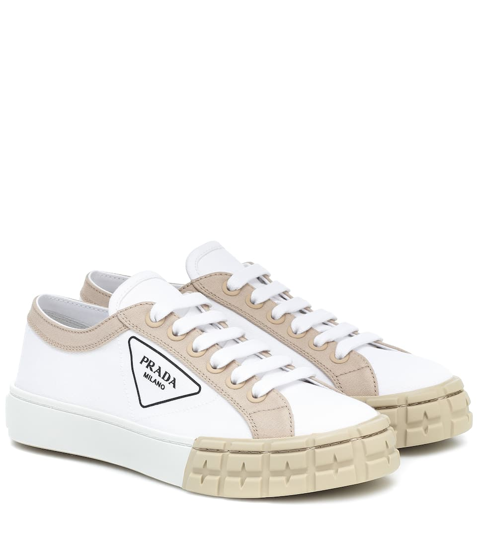 Gabardine Sneakers - Prada | Mytheresa